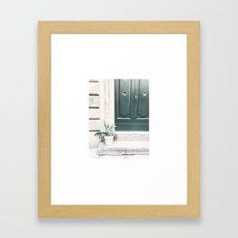 Doors of Rome, Gold circles Framed Art Print