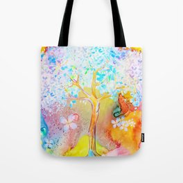 Tree of life painting Tote Bag
