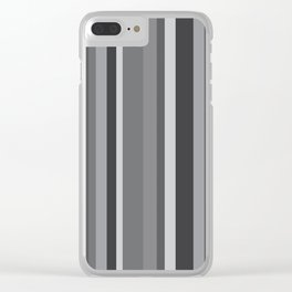 Grey Stripes Clear iPhone Case