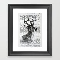 Irish Deer Framed Art Print