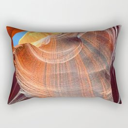 Geology Alive - Time Passage of Upper Antelope Canyon Rectangular Pillow