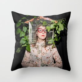 Stacie Huckeba - Caged But Free Throw Pillow