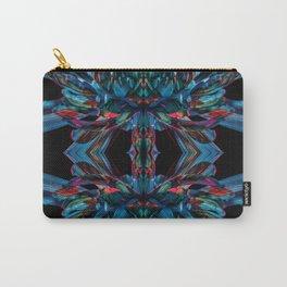 Kaleidoscope Blue Petals Carry-All Pouch