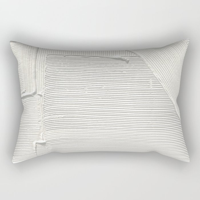 Relief [2]: an abstract, textured piece in white by Alyssa Hamilton Art Rectangular Pillow