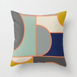 Colorful Geometric Cubism Design Throw Pillow