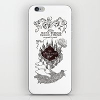 marauders iPhone & iPod Skins featuring MARAUDERS MAP by ThreeBoys