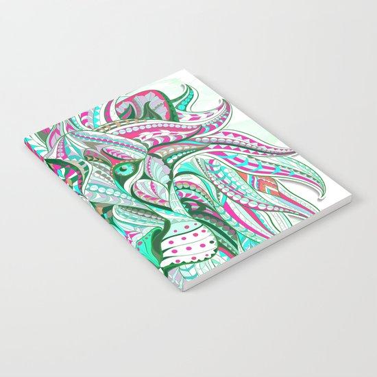 Sea Green Ethnic Lion Notebook