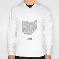 ohio state Hoodies featuring Ohio map by David Zydd