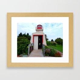 Lighthouse Shed Framed Art Print