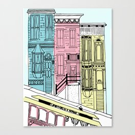 San Francisco Victorian Houses Canvas Print