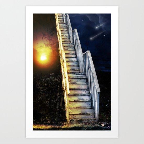 Stairway to.... u guess!  Art Print