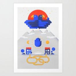 Twin Falcons Art Print