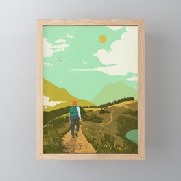 WARM TRAILS Framed Mini Art Print