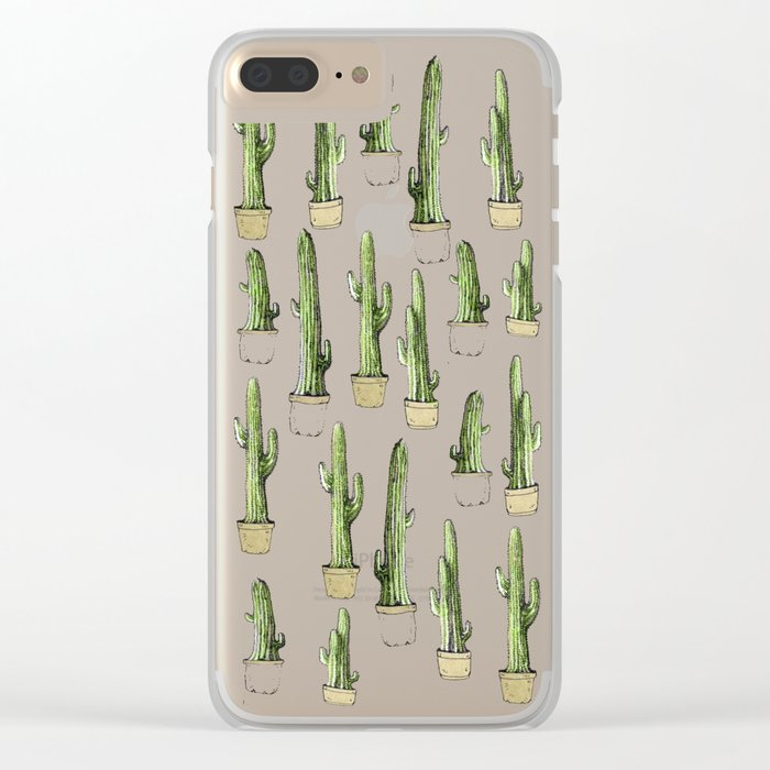 cactus pen! Clear iPhone Case