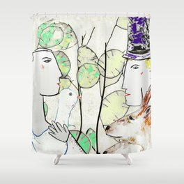Bride & Groom Shower Curtain