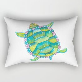 Tropical sea turtle - turquoise aqua blue Rectangular Pillow