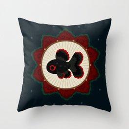 Butterfly goldfish Throw Pillow