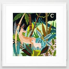 Woodland Deer & Fawn Framed Art Print