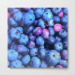 Blueberry Season Metal Print