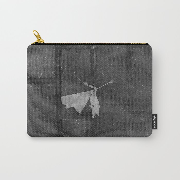 leave and let die, dead leaf, sidewalk urban photography Carry-All Pouch