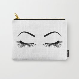 Closed Eyelashes (Both Eyes) Carry-All Pouch