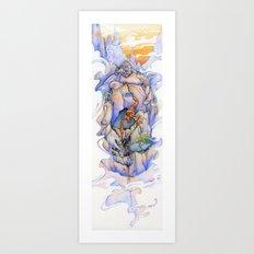 Shaolin Scorpion Monk Art Print