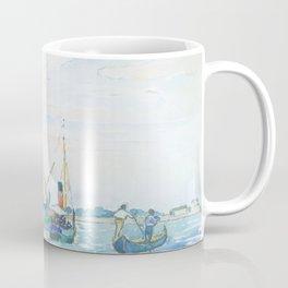 Marine Scene (Boats near Venice) by Henri-Edmond Cross1903, French Coffee Mug