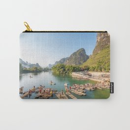 Tourist bamboo rafts in Yangshuo Guilin Carry-All Pouch