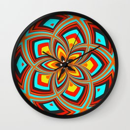 Spiral Rose Pattern C 2/4 Wall Clock