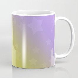 Star rain yellow, pink . Coffee Mug