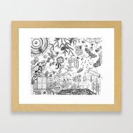 The View From Here - Black and White Framed Art Print