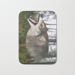 Wolf Chomp Bath Mat