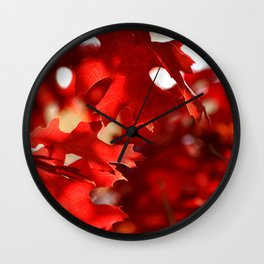 ABSTRACT FALL Wall Clock