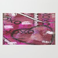xoxo Area & Throw Rugs featuring XOXO by Kimberly McGuiness