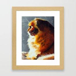Animal - Gambo the intrepid cat - by LiliFlore Framed Art Print