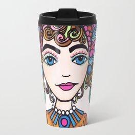 Style Girl - No 21 - Doodle Drawing Travel Mug