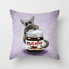 Sweet aim // galago and nutella Throw Pillow