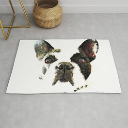 French Bulldog Art - High Contrast Painting by Sharon Cummings Rug
