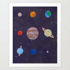 The 9 Planets! Art Print