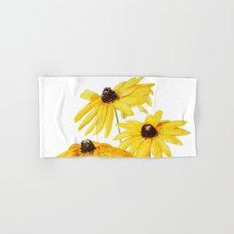 yellow flower sun choke flower Hand & Bath Towel