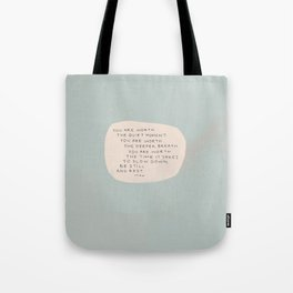 Be Still And Rest. Tote Bag