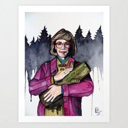 Twin Peaks Log Lady Art Print