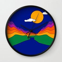Rainbow Ravine Wall Clock