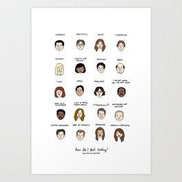The Office Mood Chart Art Print
