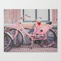 bike Canvas Prints featuring Bike by Hello Twiggs