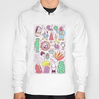 japanese Hoodies featuring Yokai / Japanese Supernatural Monsters by Kimiaki Yaegashi