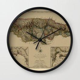 Map Of Jamaica 1775 Wall Clock