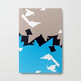 Ocean Geometry Metal Print