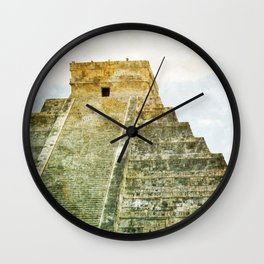 Chichen Itza pyramid Wall Clock