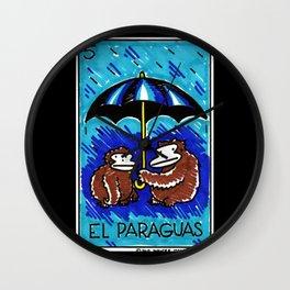 Loteria Ape #5: El Paraguas Wall Clock